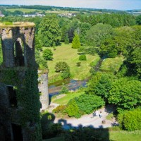 "This photo was taken from the battlements of the Blarney Castle in Blarney, Ireland (about 8km from Cork). I remember the day vividly – gorgeous blue skies, and an hilarious old dude who ""helped me"" kiss the Blarney stone (you need to lay down on your back over the edge of the battlements in order to kiss the stone – I actually did need help,..."